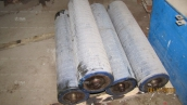 Rollers of an extraction of the production line of  asbestos-cement pipes